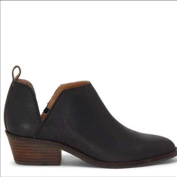 Lucky Brand Fayth Black Ankle Booties